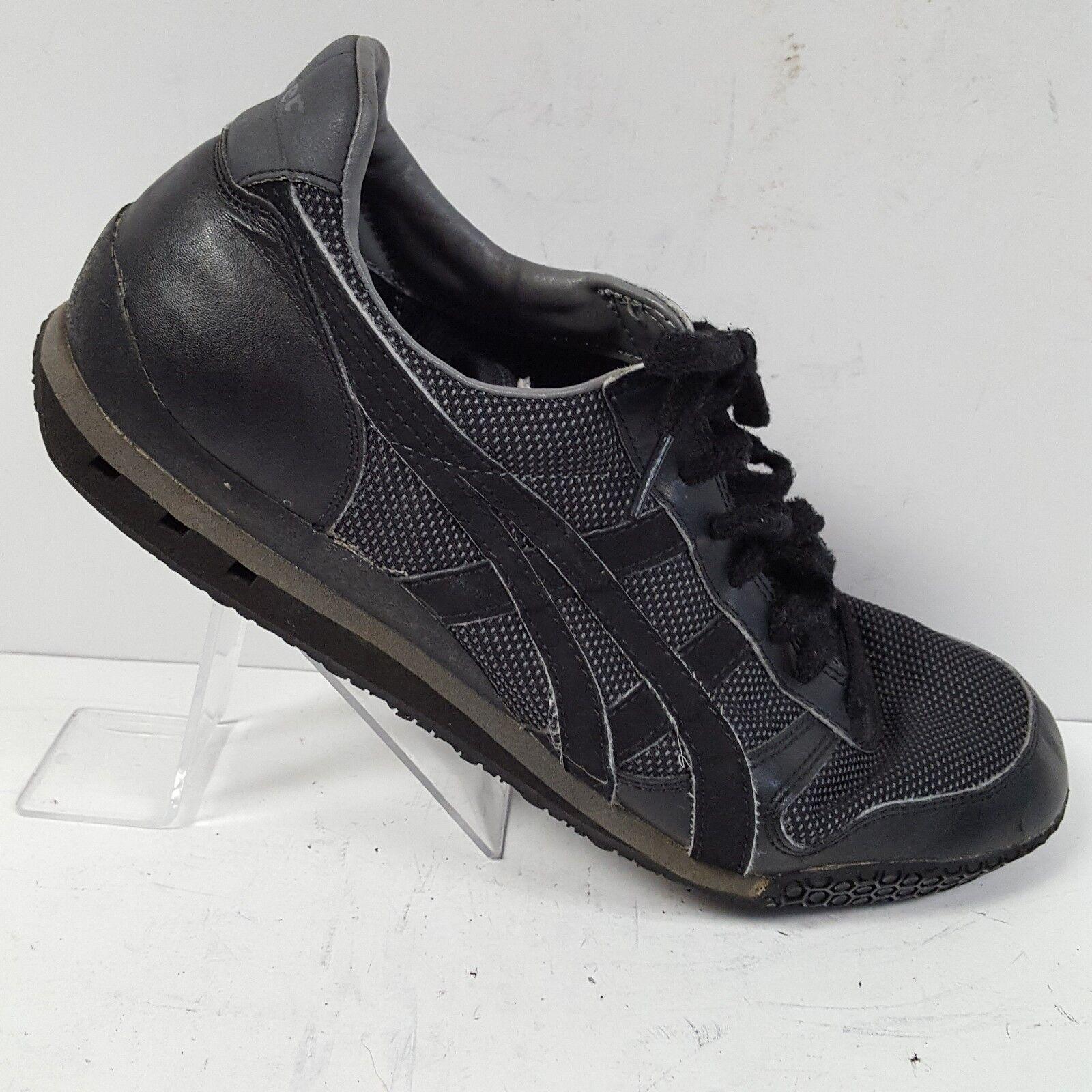Asics Onitsuka Tiger Black Dark Grey Running D00FJ Shoes Mens Comfortable Casual wild