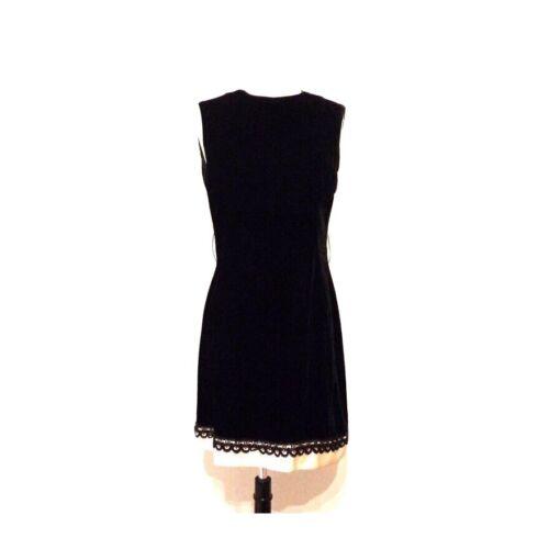 Vtg 60s Black Velvet Mini Dress Gothic Eleven Wedn
