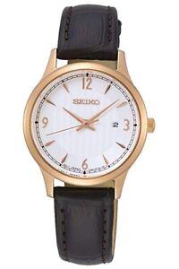 Seiko-Femmes-Classique-Bracelet-Cuir-Montre-SXDG98P1-Neuf