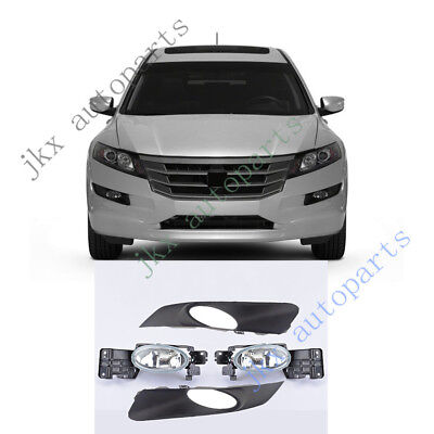 4pcs Car Front Bumper Fog Light Lamp Covers NOBULB for Honda Crosstour 2010-2012