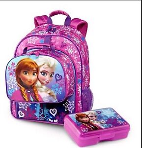 New Disney Frozen Anna Amp Elsa School Backpack Lunch Box