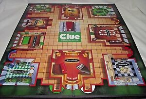 Clue-Classic-Detective-Game-Replacement-Playing-Board-1998-Wall-Decor-Parker-Bro