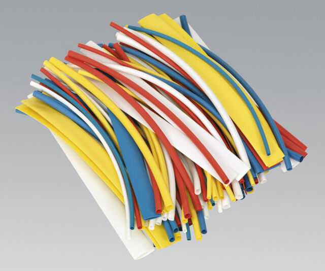 Genuine SEALEY HST200MC | Heat Shrink Tubing Mixed Colours 200mm 100pc