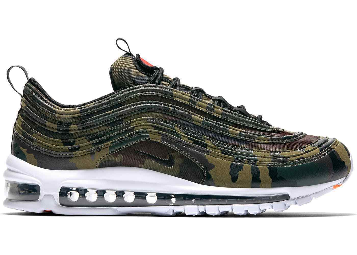 New New New Nike Air Max 97 Premium QS France Camo Pack Olive Black Size 9.5 AJ2614 200 f3fe35