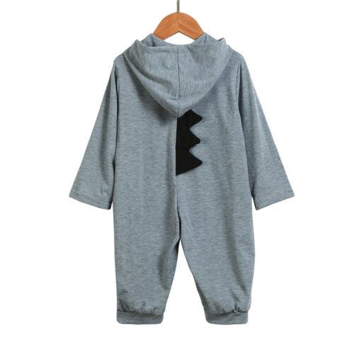 Baby Niedlich Mädchen Dinosaurier Kapuze Spielanzug Overall Kleidung