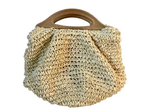 1 par de efecto madera larga bolsa de plástico maneja costura artesanía S7792 diseño