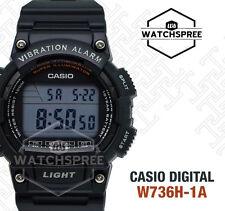 Casio Digital Black Resin Band Watch W736H 1A W 736H 1A for