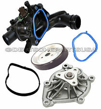 Engine Water Pump + GASKET + Pulley + Thermostat + Seal for Mini Cooper Set 5