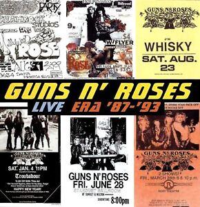 GUNS-N-ROSES-live-era-039-87-039-93-2X-CD-album-hard-rock-glam