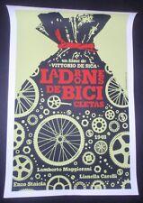 BICYCLE THIEVES Original Cuban Silkscreen Tribute Poster for Italian Movie CUBA