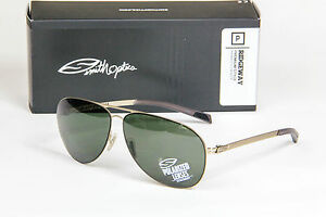 efeae71ab4 Image is loading NEW-Smith-Optics-Ridgeway-Polarized-Sunglasses-Gold- Polarized-