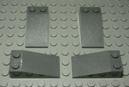 2398 Lego Stein schräg 2x4 positiv new Dunkelgrau 4 Stück