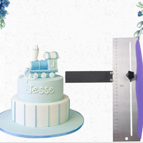 Adjustable Edge Scraper Smoother Cake Baking Stainless Steel Crisp Metal Tools