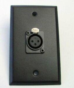 NEW-ProCraft-Black-Stainless-Steel-Wall-Plate-Loaded-W-1-Female-XLR-Mic-Input