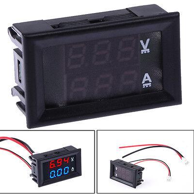DC 7-100V 0-10A Voltmeter Ammeter Blue+Red LED Amp Dual Digital Volt Meter Gauge