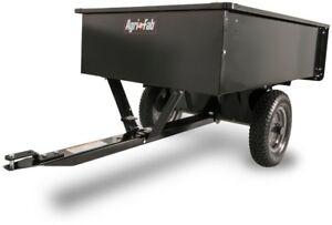 Steel-Dump-Cart-Trailer-Utility-Lawn-Garden-Universal-Hitch-Tractor-Hauling