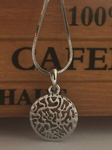 Details about Shema Israel Necklace Pendant Silver Jewish prayer Israel  Gift SHIPPING FROM US
