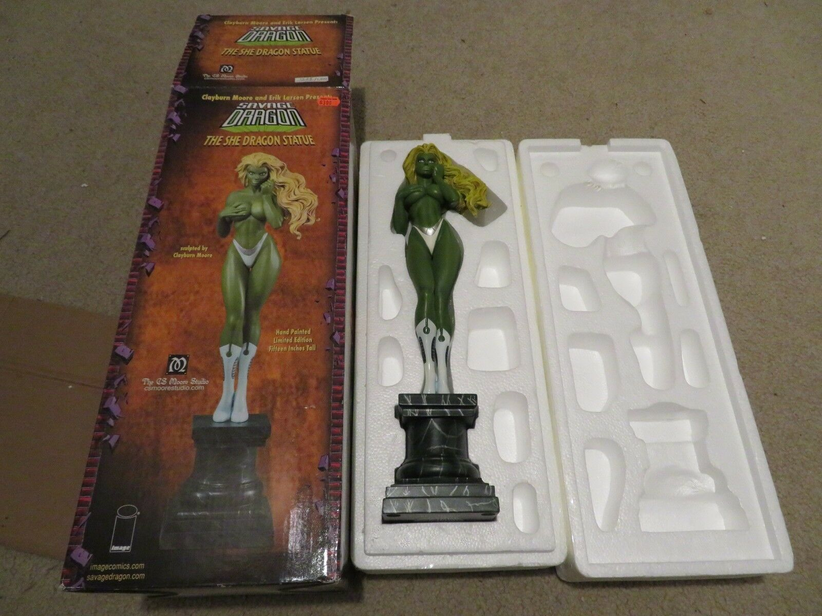 DC Dynamics The Savage Dragon She Dragon Sculpted by Clayburn Moore 15  2006 MIB