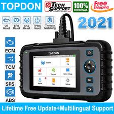 Topdon Ad600 Obd2 Abs Srs Engine Diagnostic Scanner Tpms Epb Sas Oil Code Reader