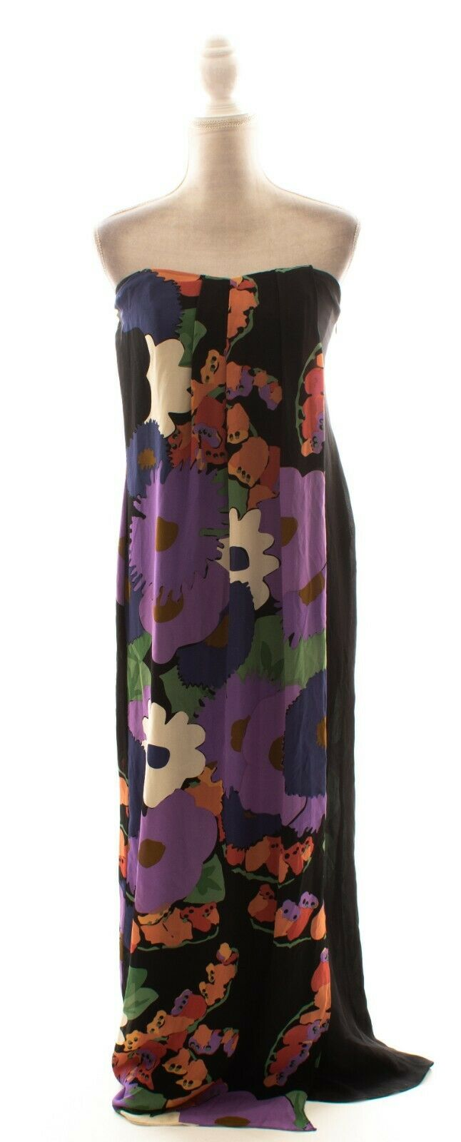 Tibi 100% Silk Floral Strapless Maxi Dress Größe 6
