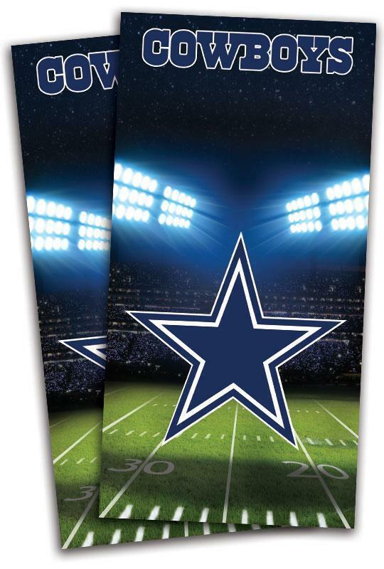 Dallas Cowboys Field Cornhole Bag  Toss Wrap Set  simple and generous design