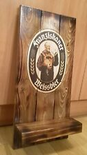 Franziskaner weissbier plaque wooden sign with shelf gift mancave shed bar pub