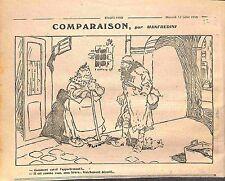 Humour Concierge Appartement à Louer Poilus Médailles Dessin Manfredini WWI 1916