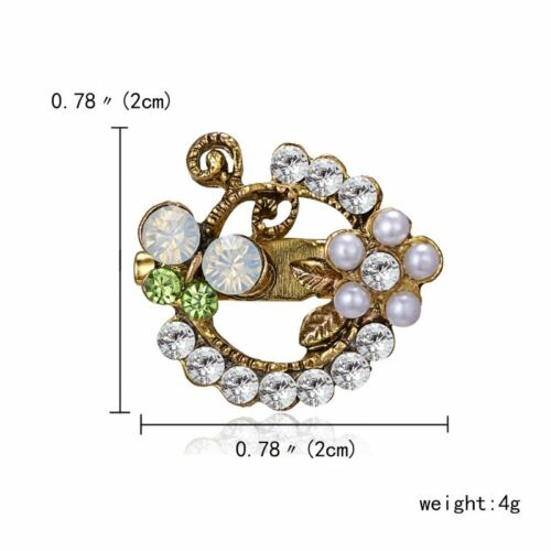 Elegant Women Filled Crystal Collar Lapel Brooch Pin Wedding Party Jewelry Gift