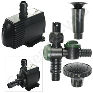 Hailea hx8830f fountain pump inline 2900l 9m cable fish for Inline pond filter