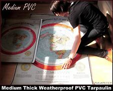 GIANT 5f/t FLAT EARTH GLEASON'S NEW STANDARD MAP OF WORLD -  XXL (152x101cm) PVC
