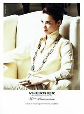 PUBLICITE ADVERTISING 126  2014   Vhernier  joaillier 30° anniversaire