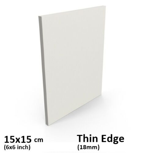 "Blank Thin Edge Stretched Canvas Frame 15x15cm/6x6"" Inch - Acrylic/oil paint"