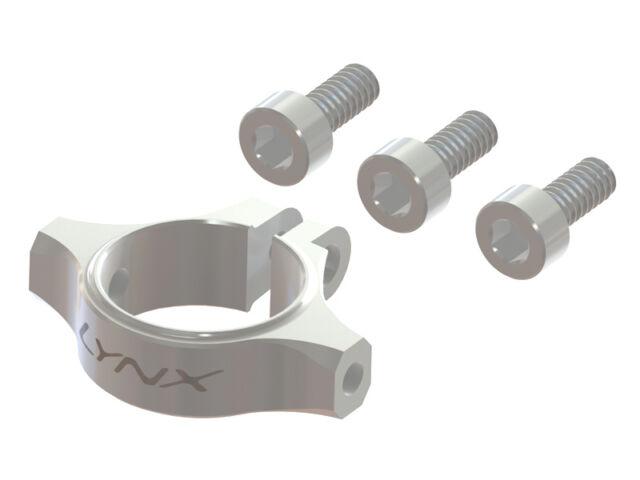 Lynx Blade 180 CFX Silver Ultra Tail Boom Clamp LX1377