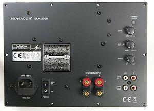 Monacor SAM-300D Digital Subwoofer-Modul 300 Watt RMS 4 Ohm.New Stock. 5056141333038