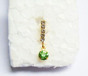 Indian Ethnic Hanger Nose Ring Gold Tone Nose Piercing Pin Fashion
