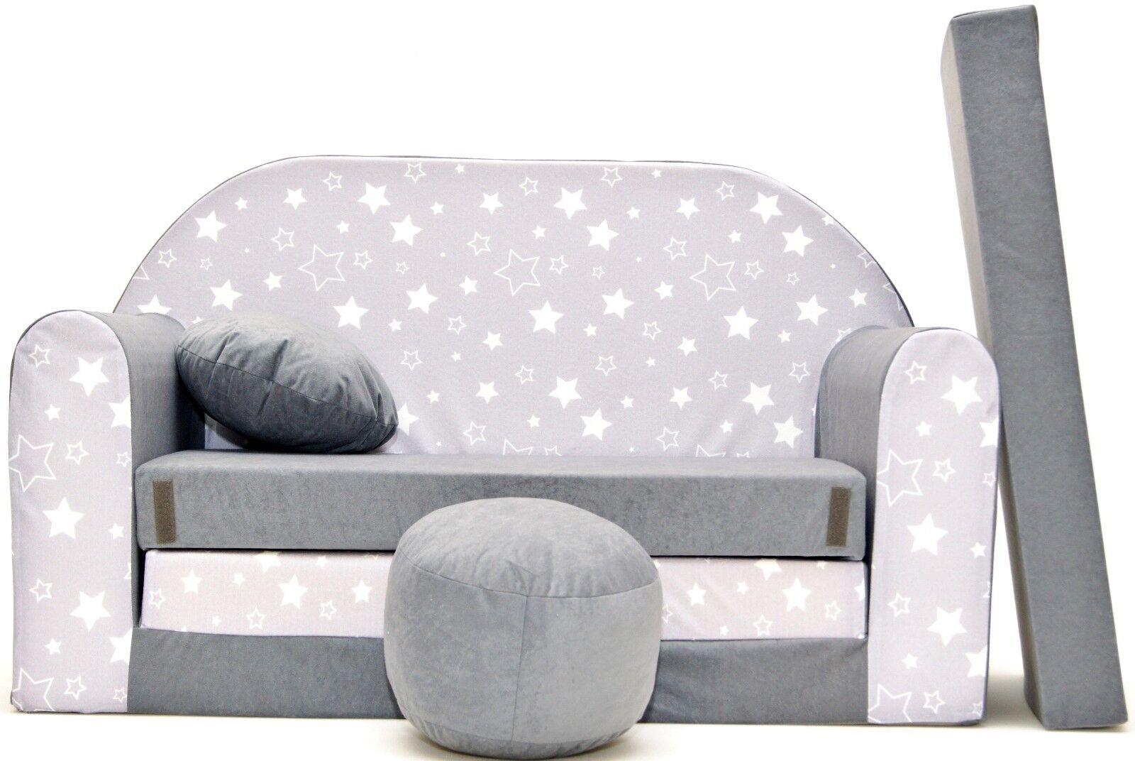 Nouvelles couleurs pour enfants Canapé mousse Lit Enfants Canapé Pouffe + oreiller jouant canapé JOUET