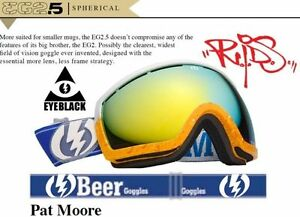 ski snowboard goggles  NEW Electric EG2.5 Pat Moore Pro Beer mens ski snowboard goggles ...