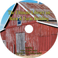 28 Books On Cd, Ultimate Library On Barn & Farm Building, Plans Construction