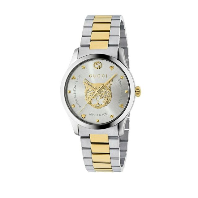 845e76a846e New Gucci G-Timeless Two-Tone Stainless Steel 38mm Unisex Watch YA1264074