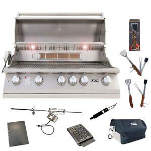 Lion 40 Inch 5-Burner Gas Grill L90000 w/ 5 in 1 BBQ Tool Set