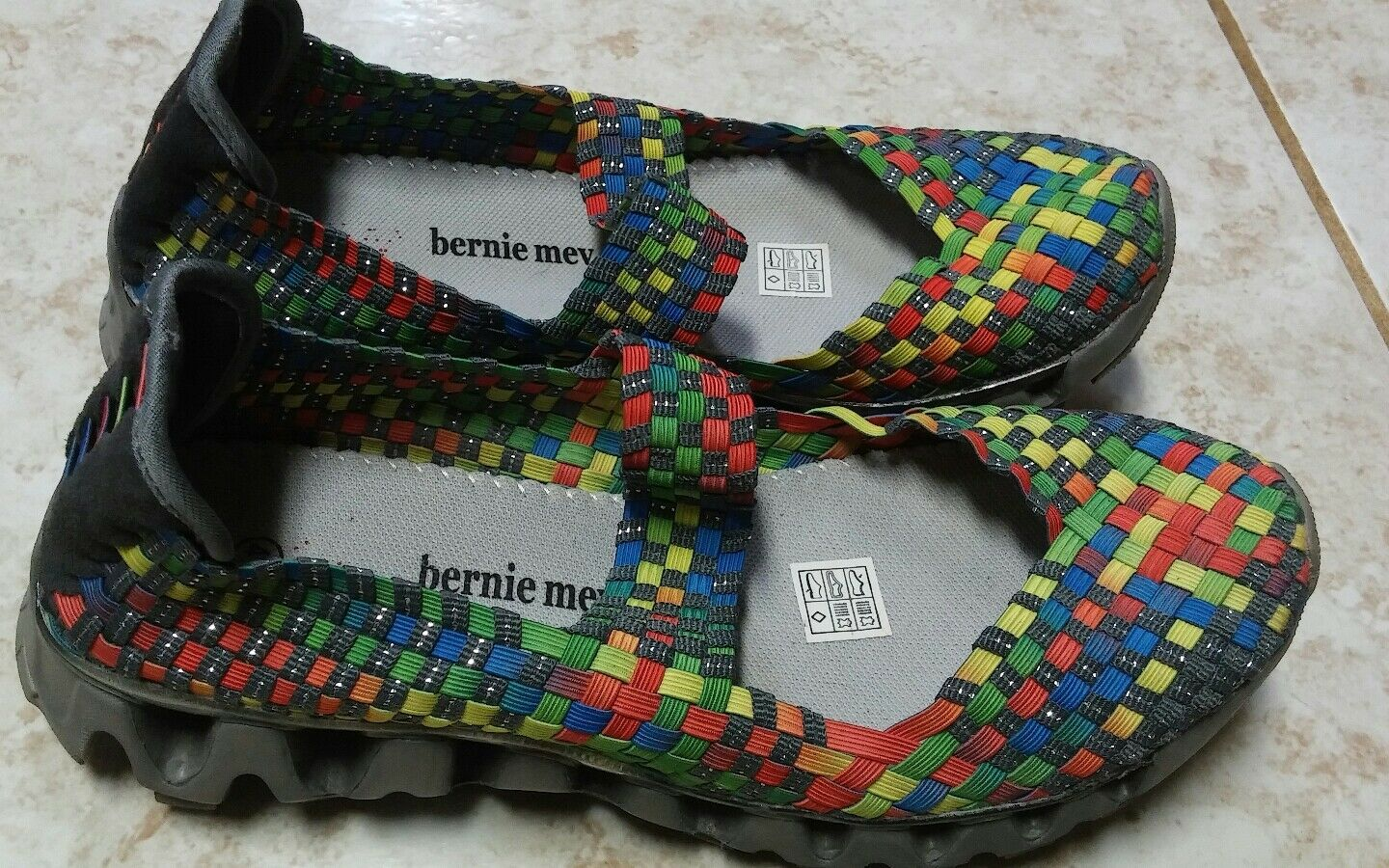 BERNIE MEV  colorful wedge heels shoes size 41