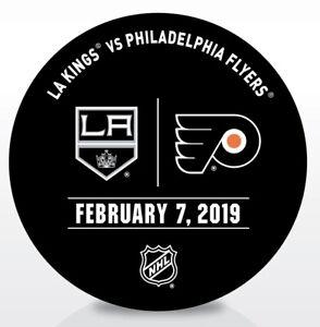 Philadelphia-Flyers-Issued-Unused-Warm-Up-Puck-2-7-19-Vs-Los-Angeles-Kings