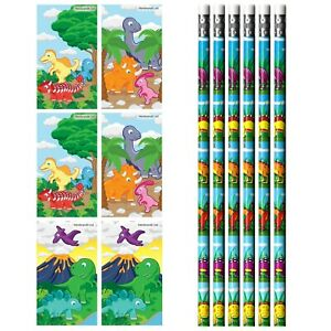 6 Dinosaur Pencils with Erasers