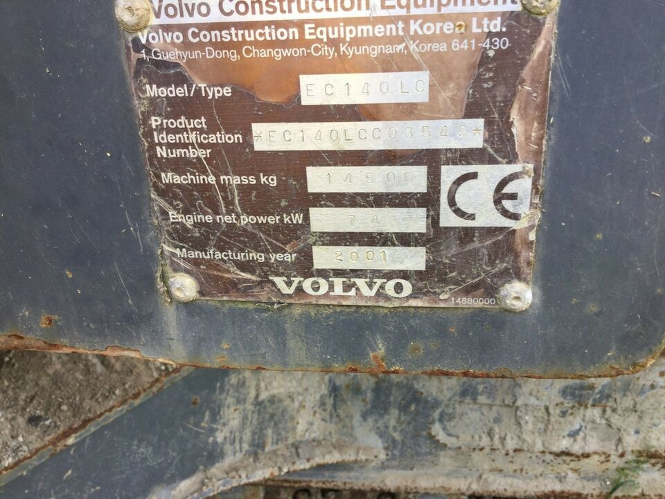 Gravemaskine, Volvo EC140