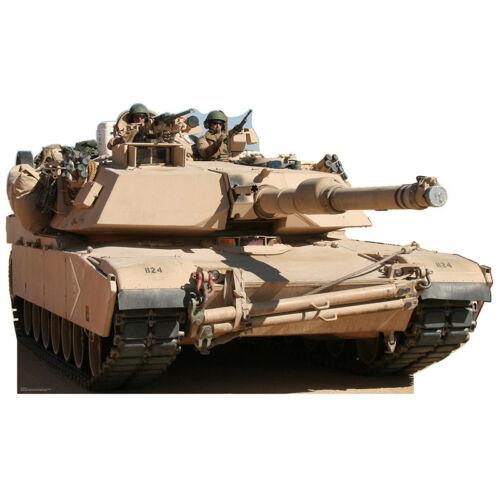 TANK CARDBOARD CUTOUT Standee Standup Poster Prop Army M1 Abrams Battle Tank F//S
