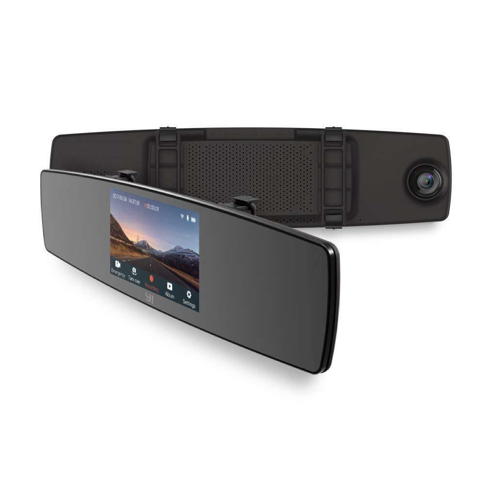 s-l1600 YI Mirror Dash Cam, Dual Dashboard Camera Recorder with Touch Screen, Front Rear