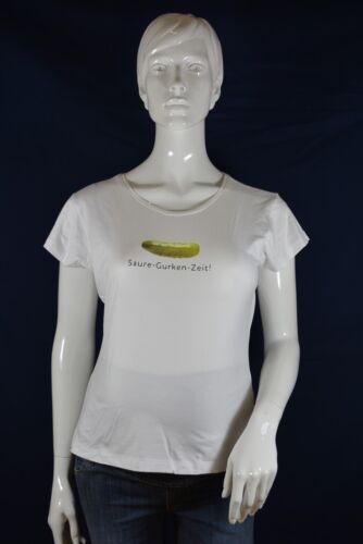 S L MADE WITH LOVE Umstandsshirt Gurken-Zeit T-Shirt Gr weiß; K1 218 M
