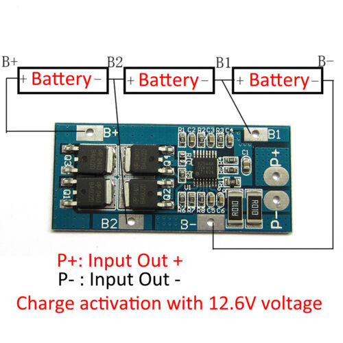 10-100A BMS Charger Protection Board 3-6S 18650 Li-ion Battery lithium Cell a2