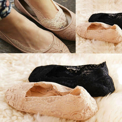 Fashion Women Summer  Lace  Flower Antiskid Invisible Liner Low Cut Socks