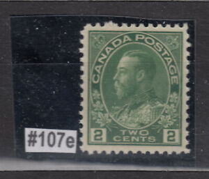 1911-25 #107e 2¢ KING GEORGE V ADMIRAL ISSUE  DRY PRINTING  F-VFNH